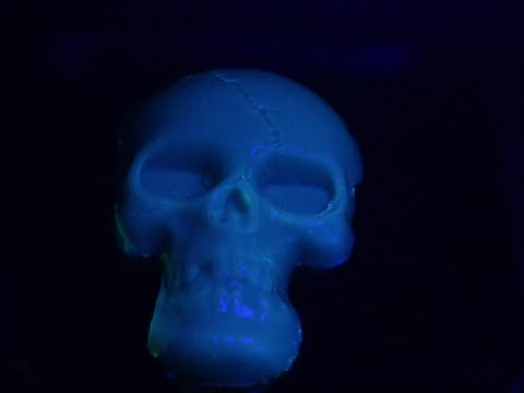 Halloween Glow in the  Dark  Gummy Skull Tutorial