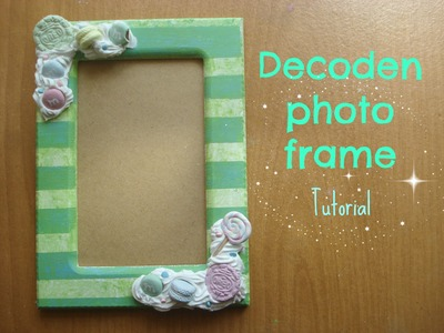 How to Decoden a Photo frame tutorial