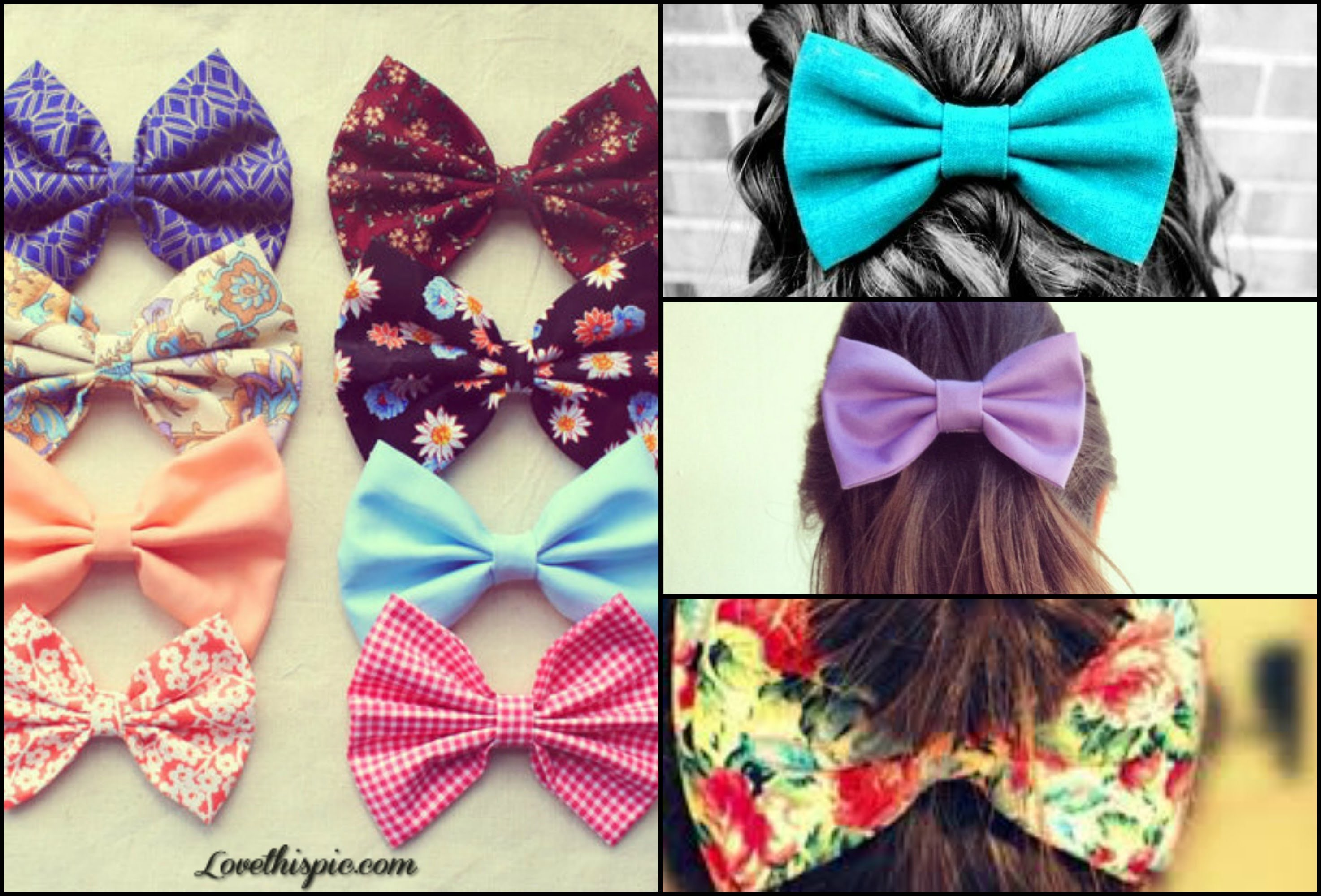 How to do:  Hair bows DIY