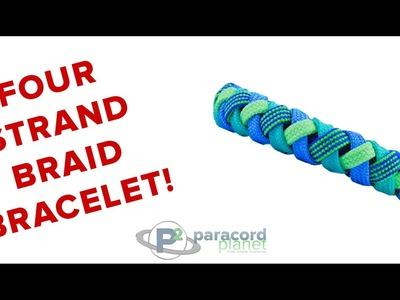 How To Make A Four Strand Braid Bracelet - Paracord Planet Tutorial