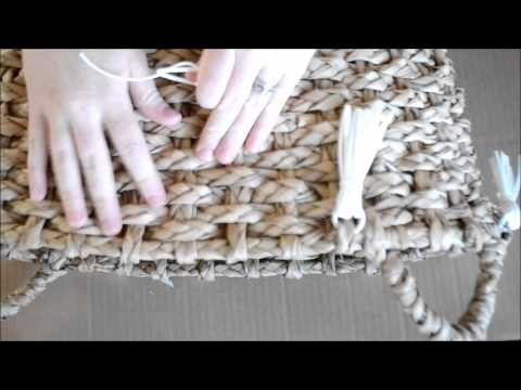 How To Make Suede Tassels On A Basket Tutorial