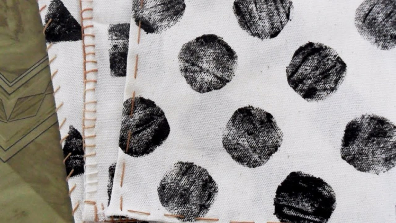 Make a Simple Stamped Kitchen Towel - DIY Home - Guidecentral