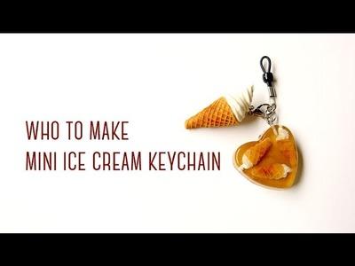 Mini Ice Cream Keychain Tutorial