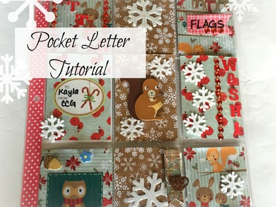 Pocket Letter Tutorial   Winter Woodland Theme