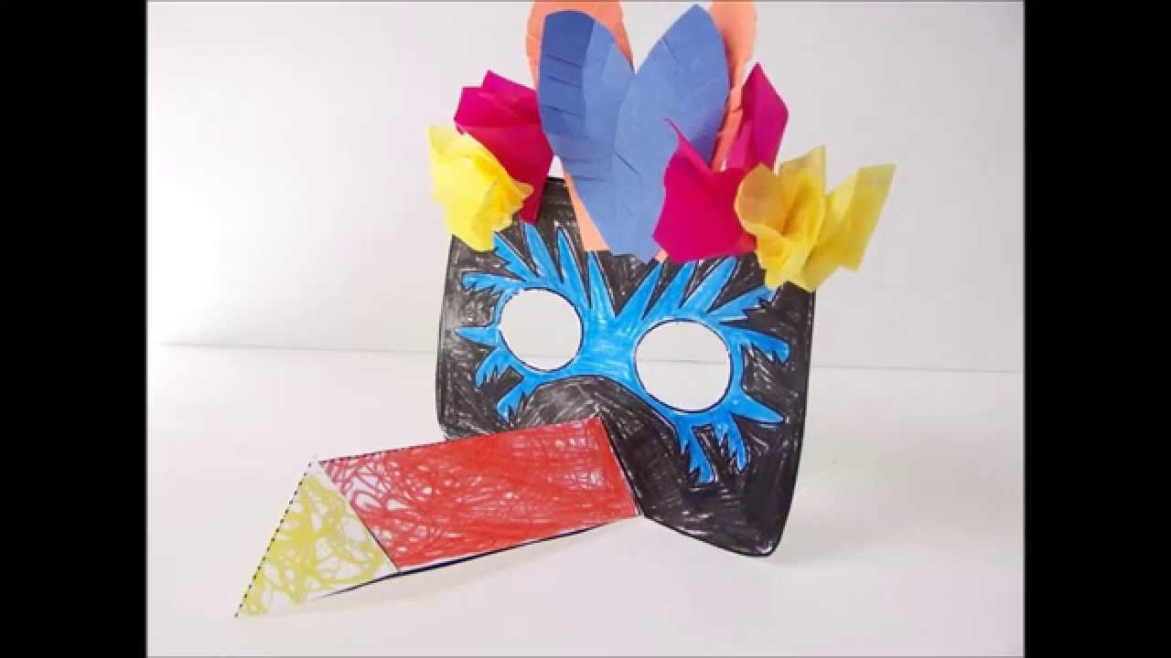Printable Papercraft Toucan Mask Tutorial