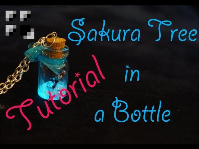Sakura Tree in a Bottle Charm Tutorial