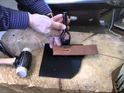 Sewing Tutorial   How To Punch Holes In Leather HD