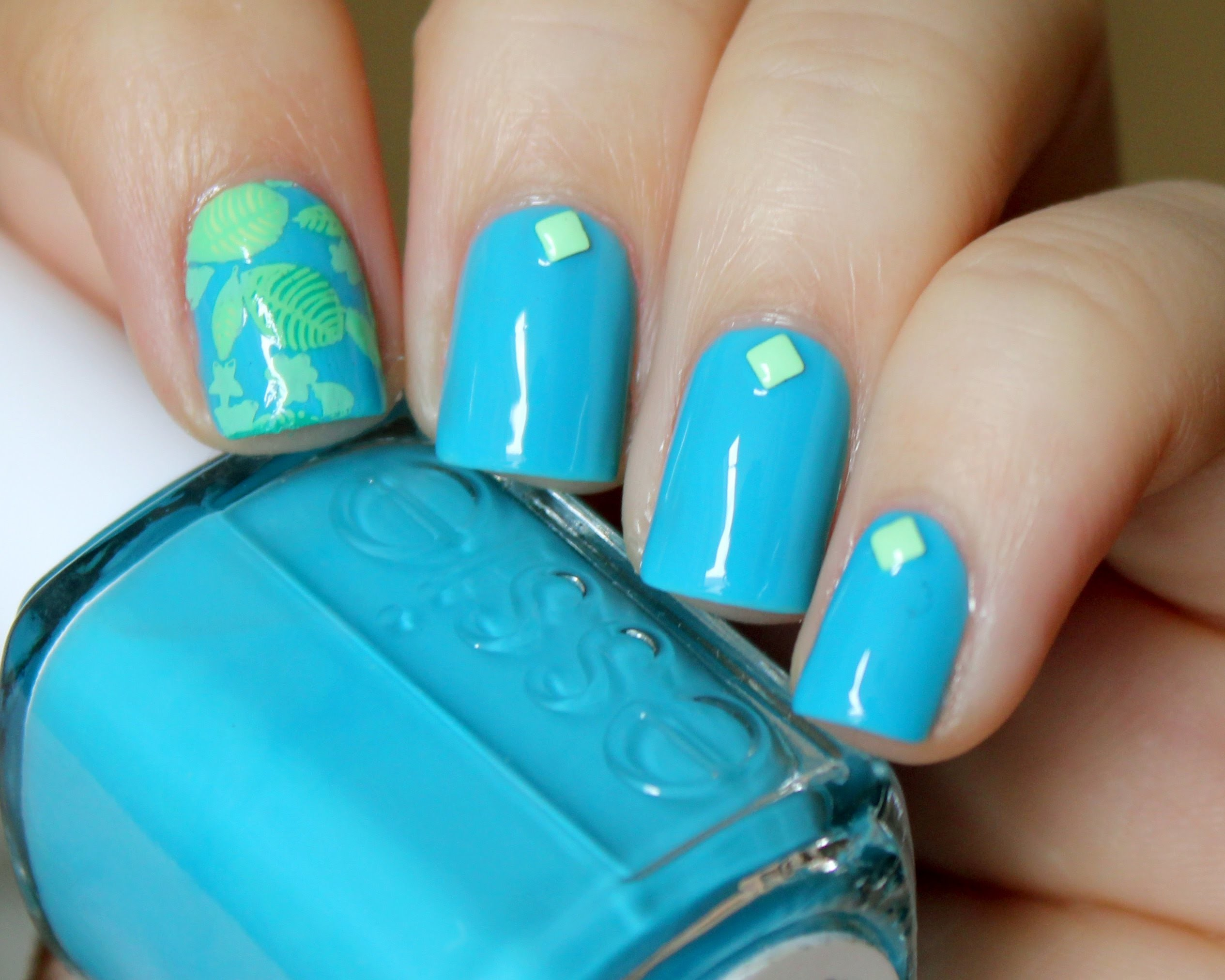 Spring Leaves Nail Art Tutorial