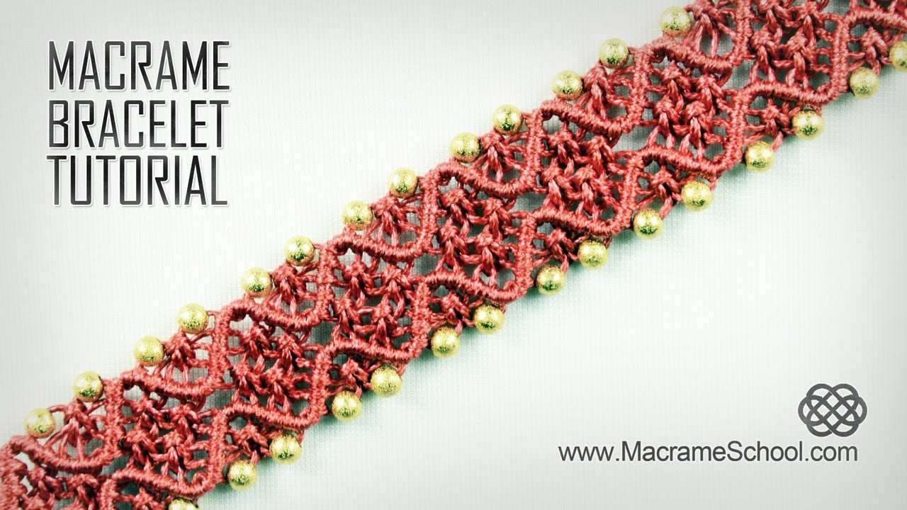 Square Knot Wave Bracelet Tutorial in Vintage Style