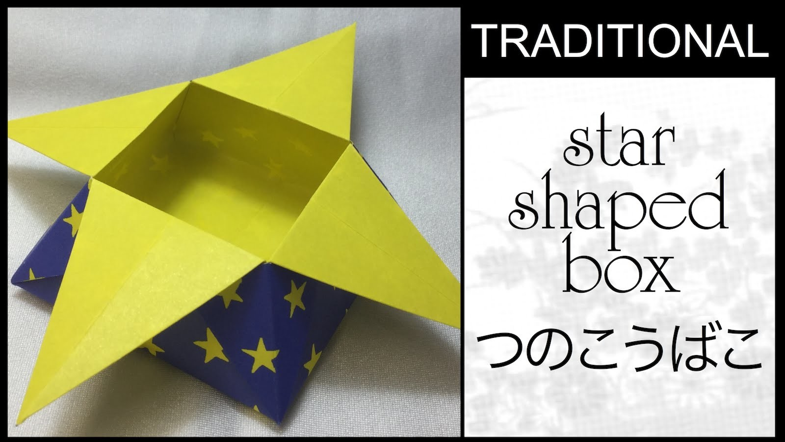 Traditional Origami Star Shaped Box Tutorial