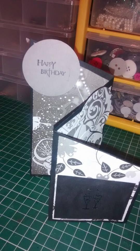 Tri Fold Card Z Card tutorial