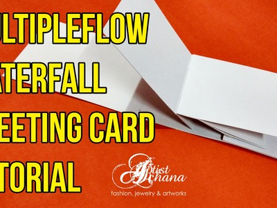 Waterfall Multipleflow Greeting Card Tutorial (Basic) by Artist Archana