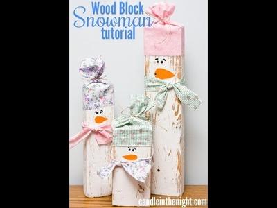 Wood Block Snowmen: A step by step tutorial Part 2