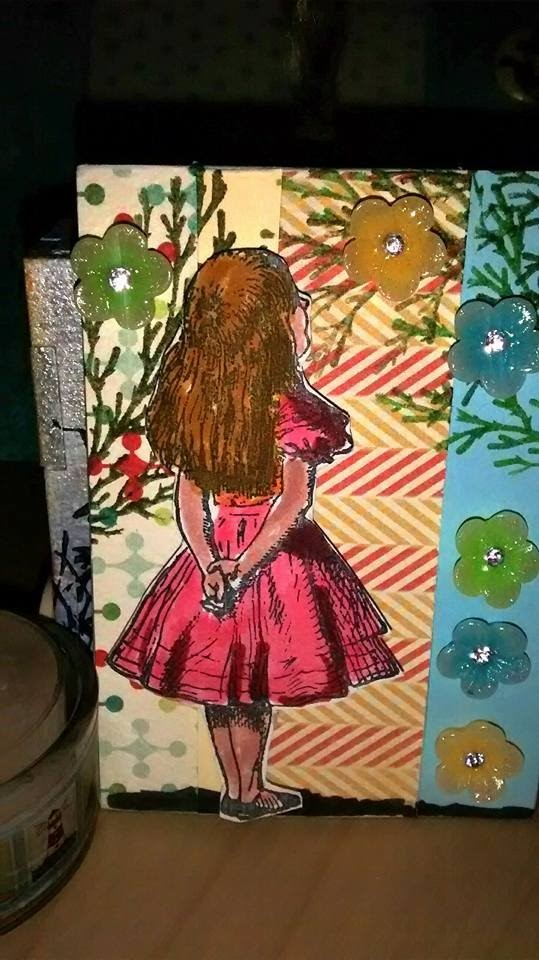 Alice and the flowers ATC tutorial!