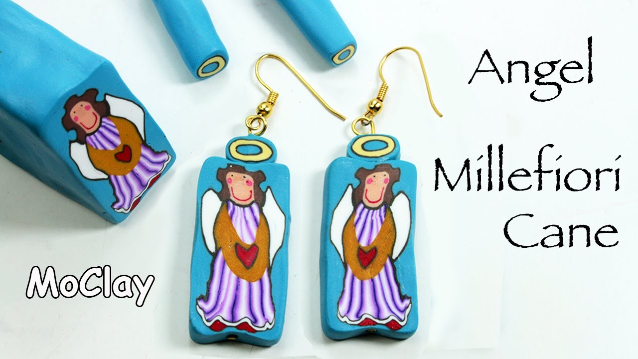 Angel Millefiori Cane - Polymer clay tutorial