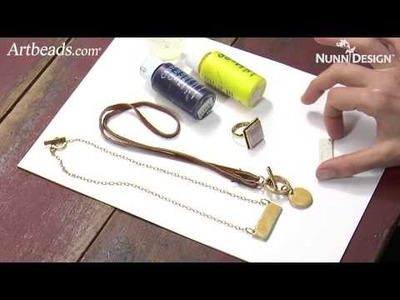 Artbeads Mini Tutorial - Colored Resin and Textured Epoxy Clay with Becky Nunn