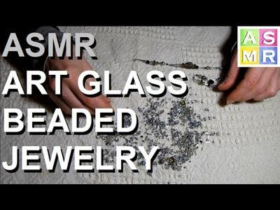 ASMR Art Glass Beaded Bracelet | Jewelry Tutorial
