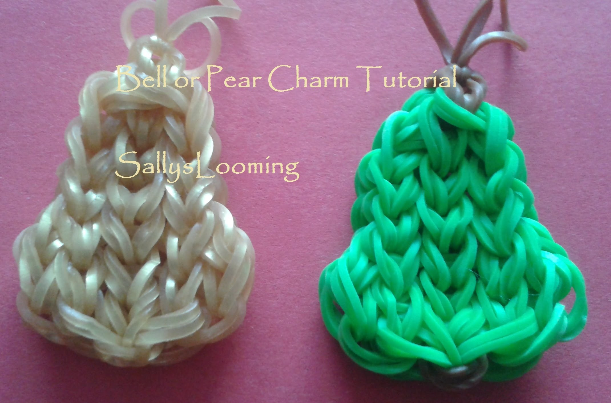 Bell or Pear Charm Loom Band Tutorial