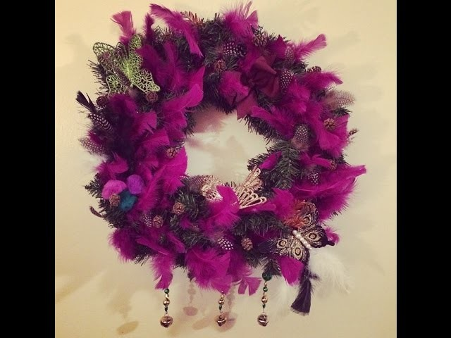 Bohemian Wreath-Making Christmas Tutorial & #FreeYoSelfie