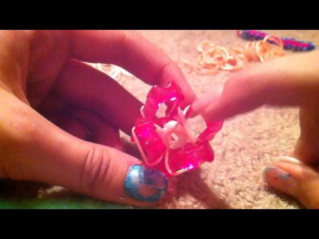 Bracelet on the finger loom tutorial