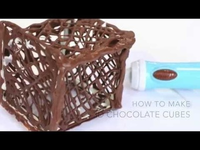 Chocolate Pen Tutorial | How to make a 3D Chocolate Cube