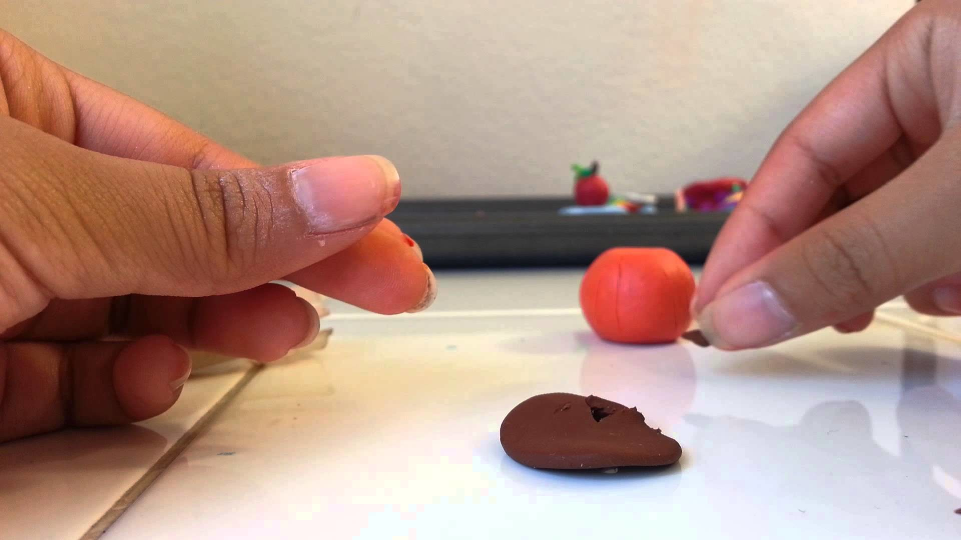 Clay Jack-o-Lantern Charm tutorial Halloween