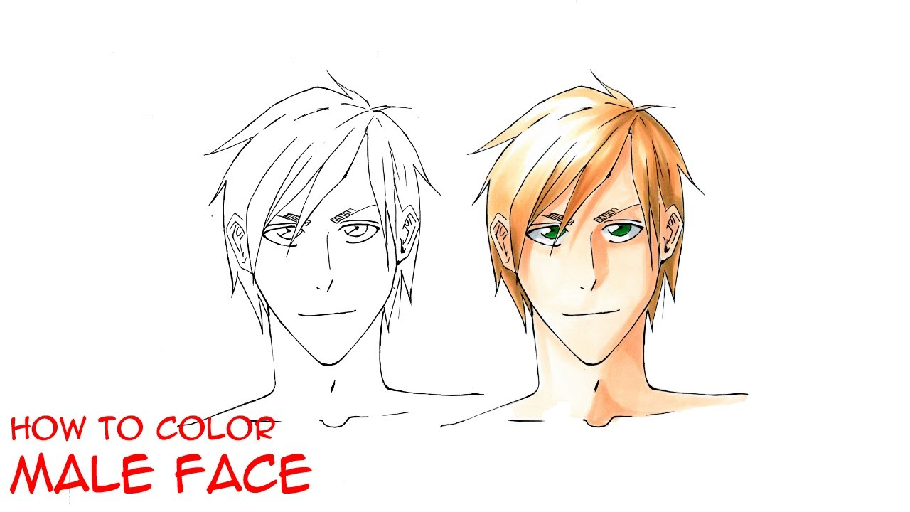 Copic Marker Tutorial - How to Color a Manga Face - Manga | Part 2