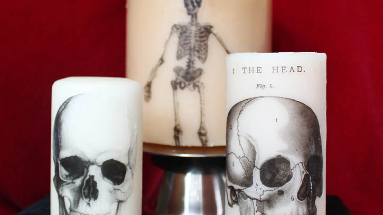 Create Cool Printed Halloween Candles - DIY Home - Guidecentral