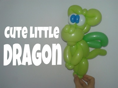 Cute Little Dragon - Balloon twisting tutorial 9.