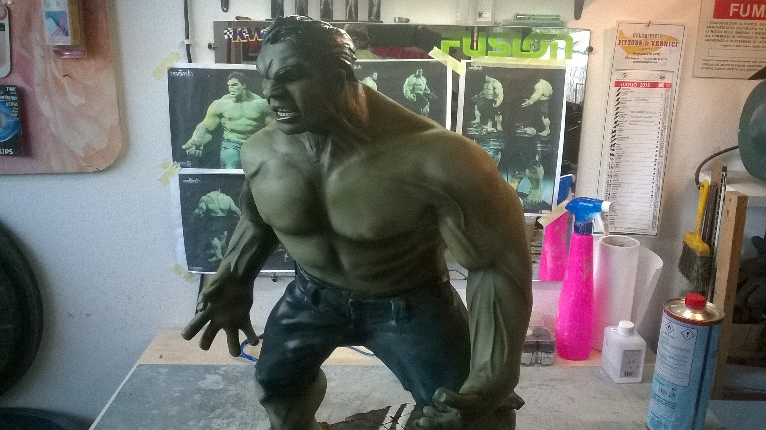 DANY BAO - HULK AVENGERS ACTION FIGURE - Lesson and tutorial sculpture modeled