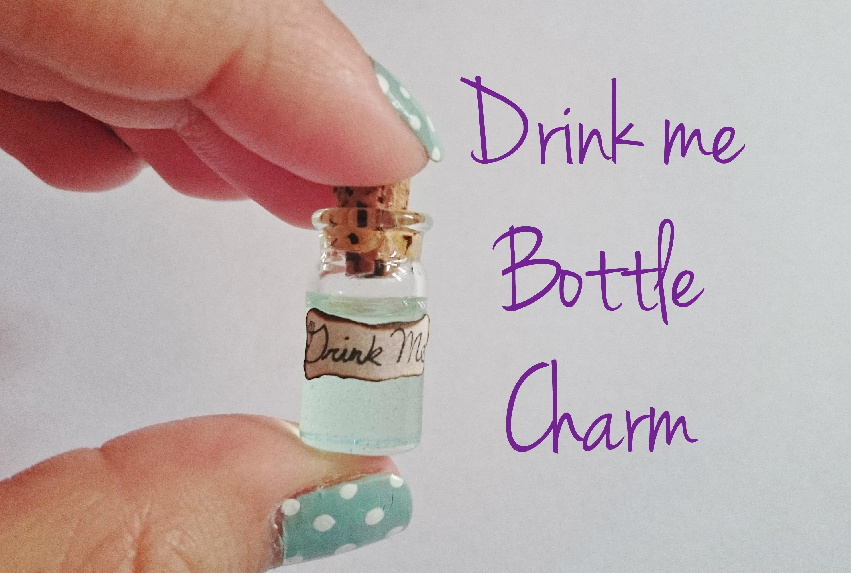 DIY Drink Me Bottle Charm