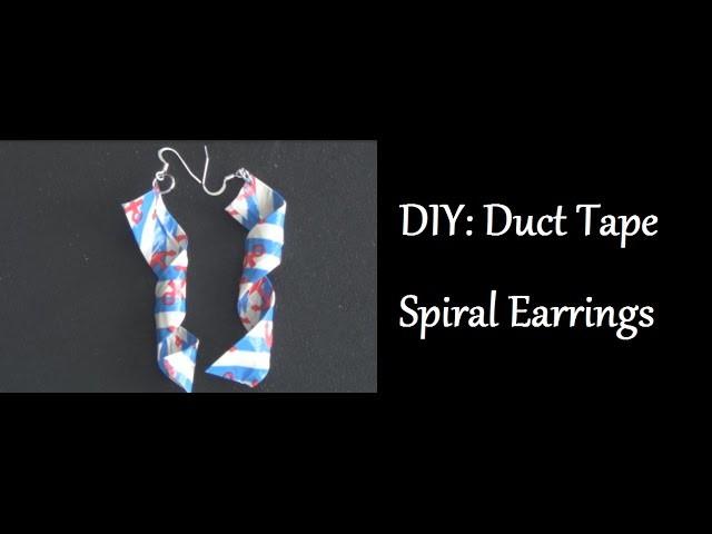 DIY: Duct Tape Spiral Earrings