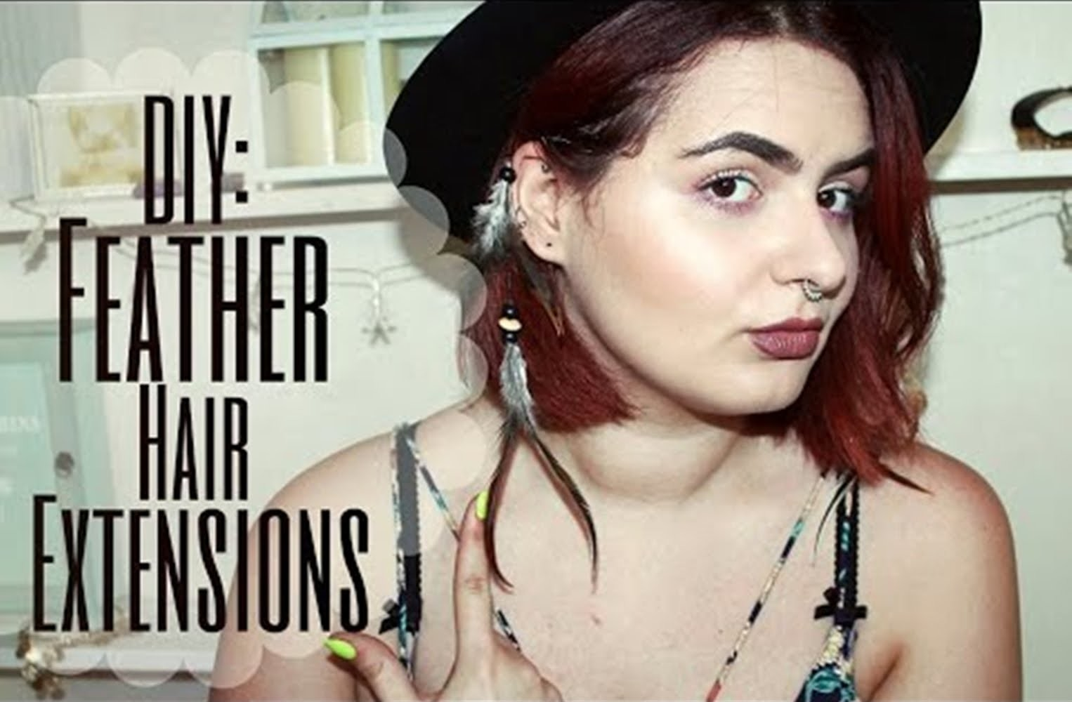 DIY: Feather Hair Extensions