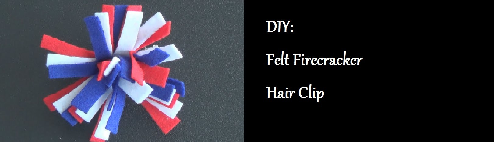DIY: Felt Firecracker Hair Clip