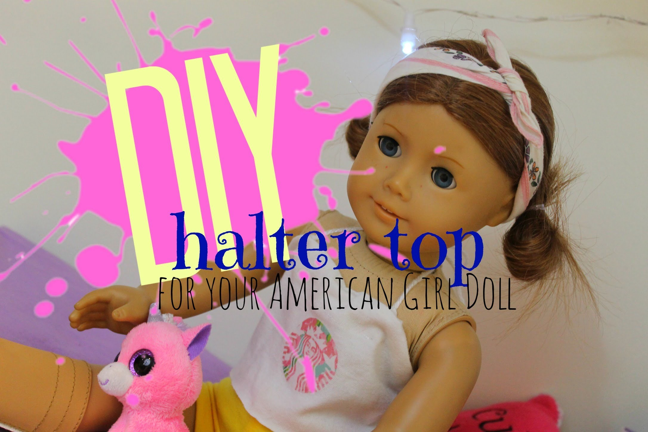 DIY Halter Top for your American Girl Doll