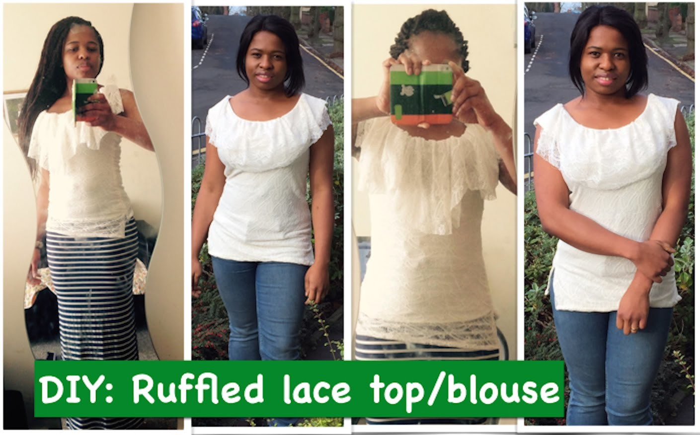 DIY: Lace top.blouse with ruffles