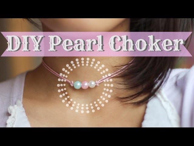 DIY Pearl Choker || Gift Idea