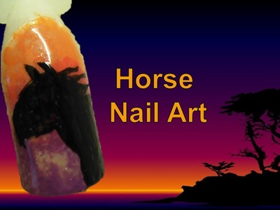Easy Free Hand Horse Nail Art Tutorial