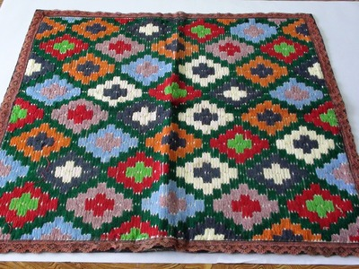 Easy tutorial to learn embroidary on mat