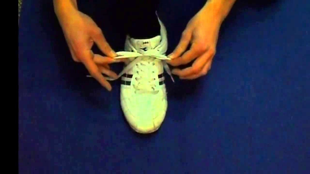EXERCISE GYM TUTORIAL Worlds Fastest Shoelace Knot   Ian Knot Tutorial