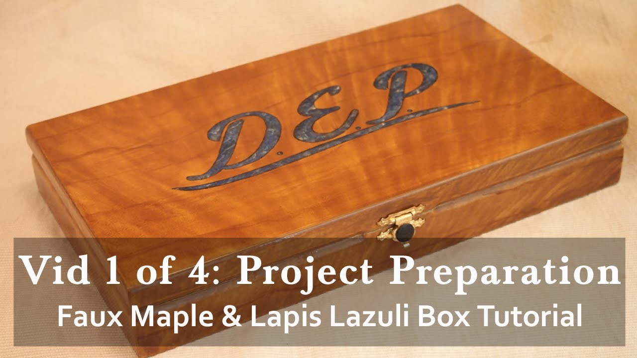 Faux Maple Wood Grain and Lapis Lazuli Inlay Gift Box Tutorial 1 of 4