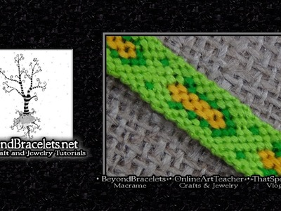 ► Friendship Bracelet Tutorial - Intermediate - CORN
