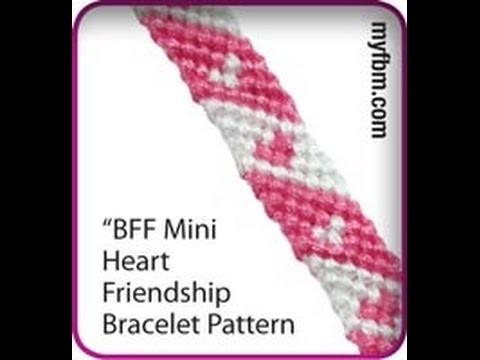 Friendship Bracelet Tutorial Mini Heart BFF Pattern