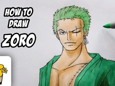 How to draw Roronoa Zoro [New World] One Piece drawing tutorial