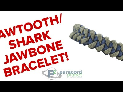 How to make a Sawtooth.Shark Jawbone Paracord Bracelet - Paracord Planet Tutorial