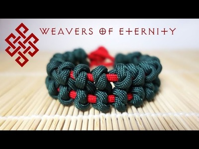 How to Tie an Overhand Bar Paracord Bracelet Tutorial