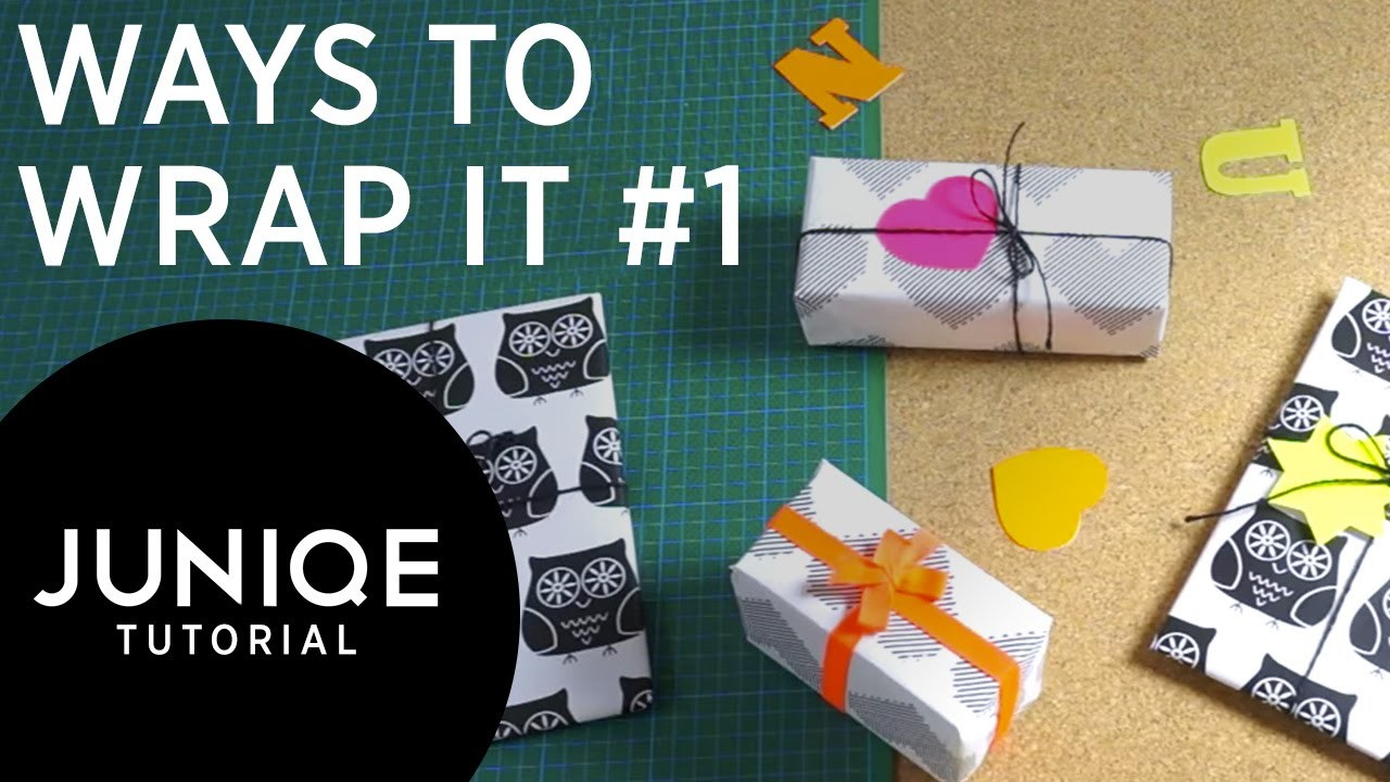 How to Wrap a Gift #1 - Monochrome & Neon | JUNIQE Tutorial