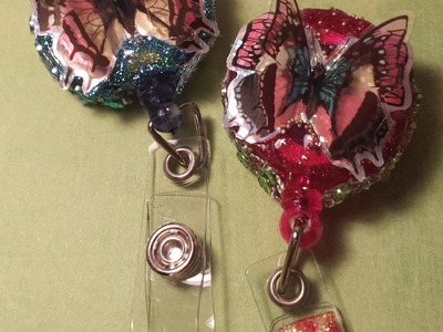 ID Badge Holder Tutorial #5: 3-D Butterfly
