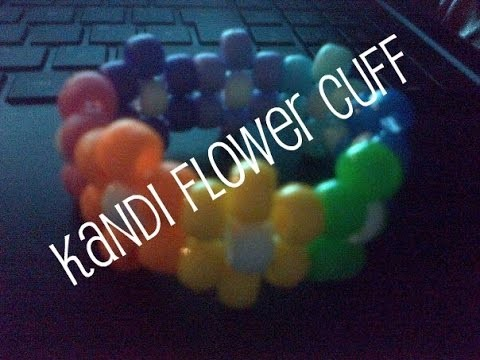 Kandi Flower Cuff. Headband Tutorial