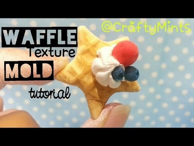 Miniature waffle mold tutorial using AIR DRY CLAY {Clay||CraftyMints}